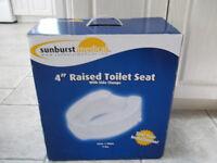 """4"""" Premium Raised Toilet Seat * new price 30-5 = 25$"""