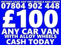 WANTED CARS VANS NON RUNNERS SCRAP FOR CASH NO MOT DAMAGEDfast