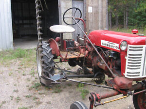 Antique Farm All Cub Tractor with side mower