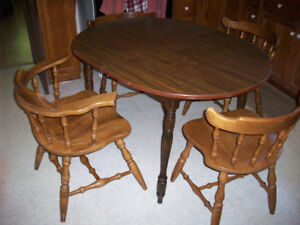 Dining Room Table & 4 Solid Wooden Chairs