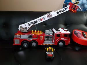 Remote control firetruck.