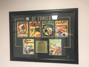 DC Comics first edition framed photo