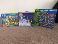 Selection of children's puzzles