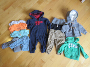 9M Carter's Baby Boy Clothes – 11 pieces total
