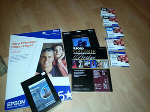 R2880 ink cartridges and photo paper for sale.