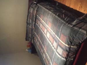 Queen platform bed and matching dresser