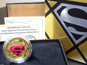 2014 Iconic Superman™ Comic Book Cover - 14-Karat Gold Coin
