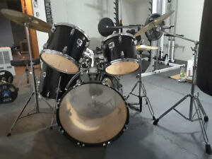 Westbury kit with Sabian cymbals and Remo heads