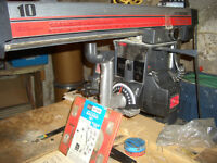 "Craftsman 10"" radial arm saw."