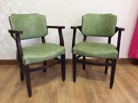 2 Vintage Matching Captains Chairs