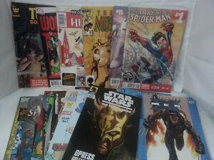 large lot 30 comic books spiderman ,simpsons ect