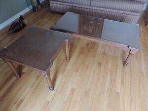 NÉGOCIABLE 2 tables basses avec vitres protectrices