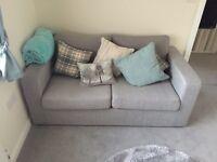 Modern grey sofa bed