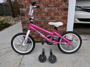 """Girl's Norco bike for sale. 16"""" tires."""