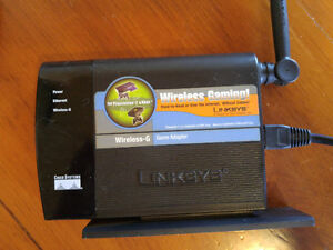 Linksys wireless gaming adapter