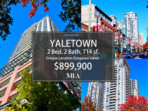 Yaletown 2 Bed, 2 Bath, 714 sf, Open House, Dec 2/3, from 2 to 4