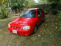 2002 Hyundai Accent clean 1650 as is