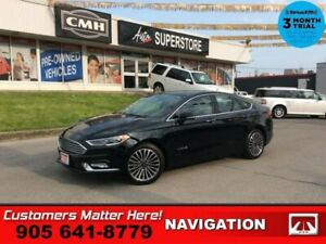 2018 Ford Fusion Titanium  HYBRID NAV LEATH ROOF CS HS CAM P/SEA