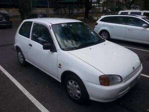 1999 Toyota Starlet, 4cyl, REGO, RWC, CHEAP RUNABOUT Coorparoo Brisbane South East Preview