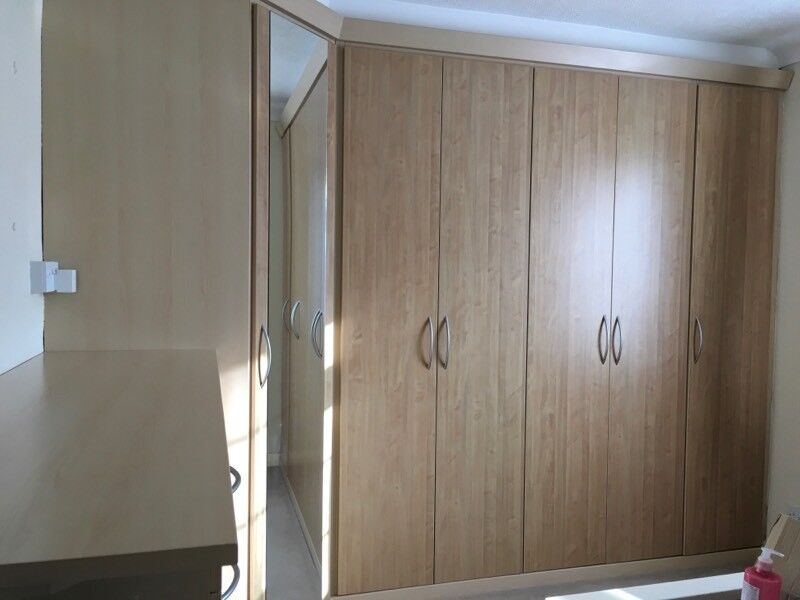 Fitted Wardrobe and Draw unit - Maple