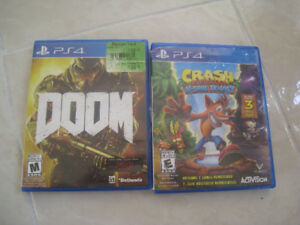 PS4 Doom and Crash Bandicoot Trilogy