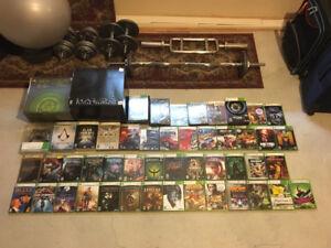 Console, manettes et lots de jeux Xbox original et Xbox 360