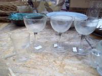 3 Crystal Glasses