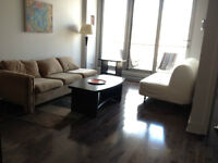 Furniture (couch, dining table, lamps, coffee table, futon, bed)