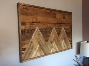 """3 Sisters"" Reclaimed mountain art"