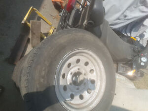 "10ply 15"" trailer tires with rims"