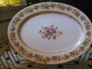 """100 year old Fancy 11'"""" Serving Plates--$15.each"""