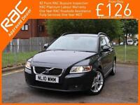 2010 Volvo V50 1.6 DRIVe Turbo Diesel SE 5 Speed Estate Just 2 Owners Only 79,00
