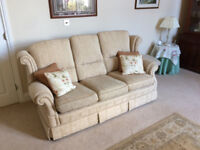 Matching 1 x 3 seater settee, 1 x 2 seater settee plus large footstool.