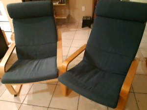 Set of Ikea Poang chairs