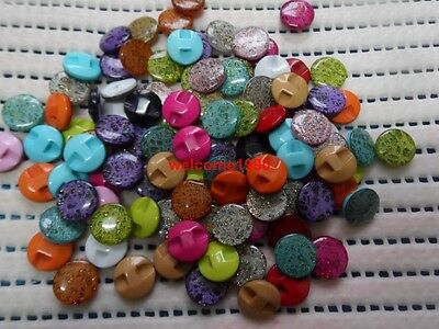 Buttons In Bulk (100pc in bulk 12mm mix DIY Scrapbook Sewing high quality resin Gold dust)