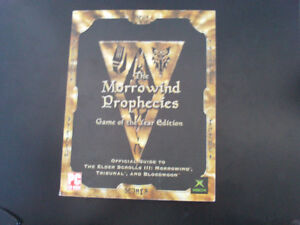 Guide Morrowind Prophecies Game of the Year Edition