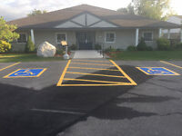 LINE PAINTING AND PAVEMENT MARKINGS