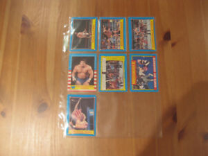 Cartes - WWF 1987 - Wrestling - Lutte - O-Pee-Chee - 7 cards