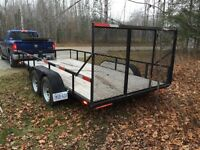 Brand new 7x16 flatbed trailer with 8000LBS winch!