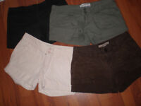 Vêtement femme, veste, short, pantalon, jupe, soulier, chandail
