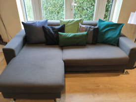 Two sofa set - 3 seat L shape corner sofa and 2 seat sofa