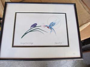 richard shorty print  hummingbird & butterfly