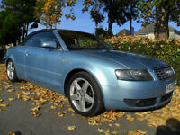 AUDI A4 CONVERTIBLE 3.0 CVT SPORT COMPLETE WITH M.O.T HPI CLEAR INC WARRANTY