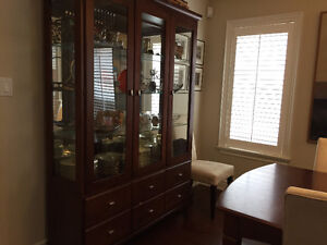 Ethan Allen Dining Set - extendable table, chairs, china cabinet