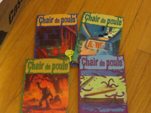 LOT 4 LIVRES  CHAIR DE POULE   no 1-9 15-21 - R.L.STINE