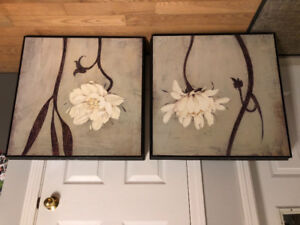 Wall decor titled Ivory Blossoms