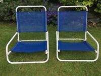Beach Chairs - Pair Low Level Folding