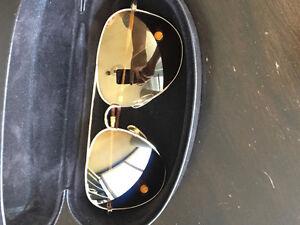 Michael Kors MK Gold Aviator Sunglasses