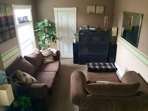 Clean Brown Couch Set - $400