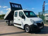 VAUXHALL MOVANO CREW CAB TIPPER.*ONE STOP ALLOY BODY*
